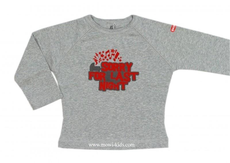 0001 Shirtje longsleeve grijs  maat 74