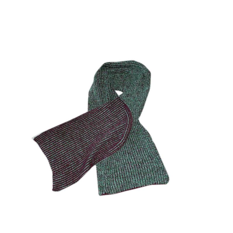 009 Scotchshrunk sjaal groen  1 maat