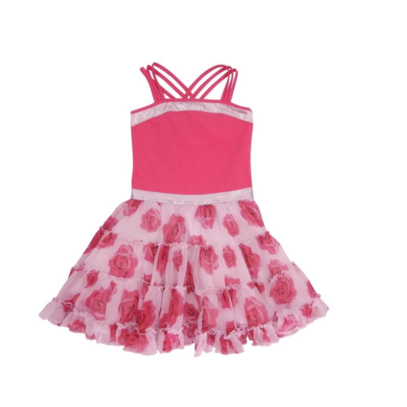 00011 LoFff jurk Sevilla fuchsia Z8304-01