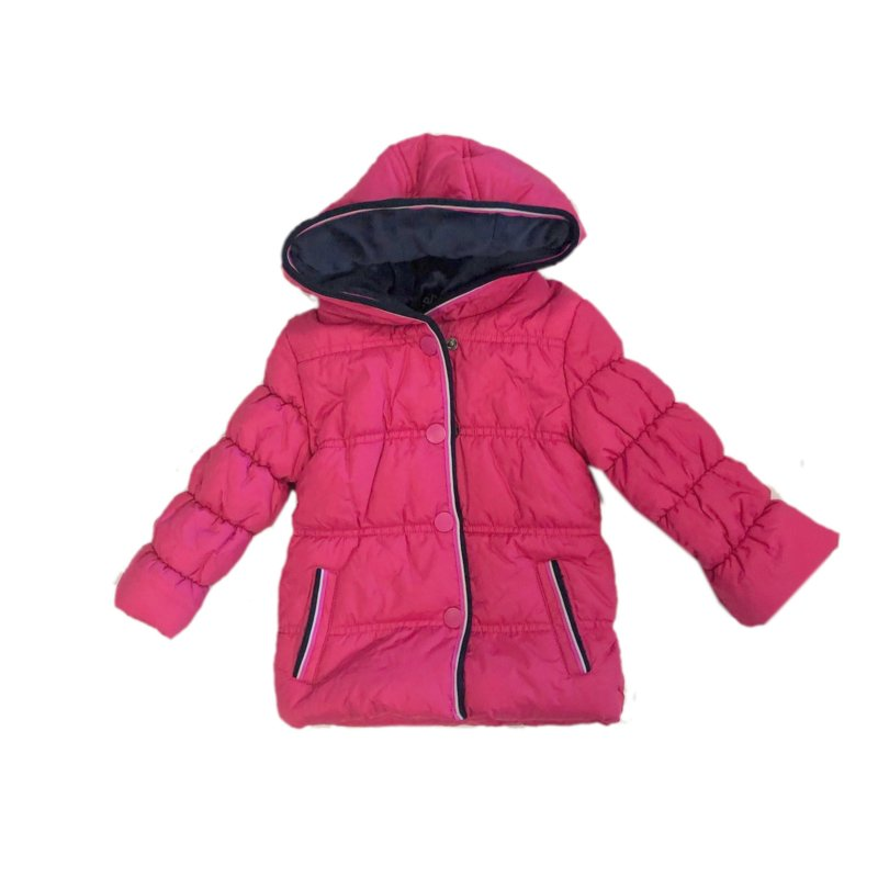 001 Far out babymeisjes winterjas roze wit model Hippo