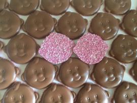 TIJDELIJKE AANBIEDING 8 CHOCOLADE BABY GEZICHTJES ROZE