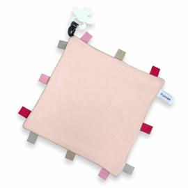 Funnie Labeldoekje speen licht roze  incl naam