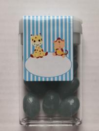 Plastic doosje met Jelly Beans en dieren sticker