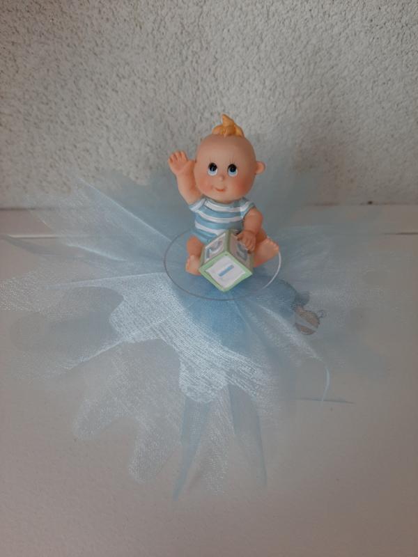 BABY JONGEN OP DUBBELE TULE INCL KAARTJE OP=OP