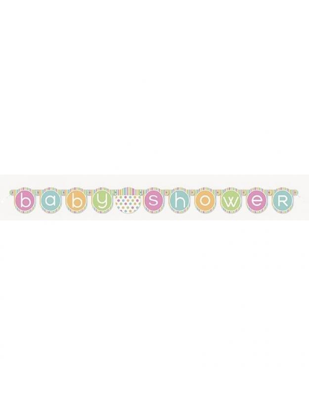 BABYSHOWER LETTERSLINGER PASTEL KLEUREN  OP=OP