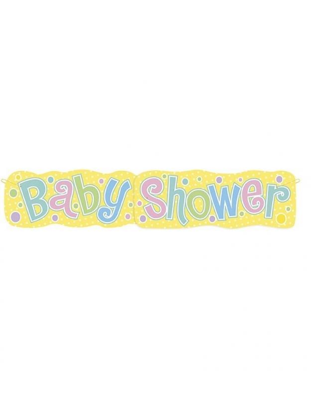 GROTE BABYSHOWER BANNER 1.37M  OP=OP
