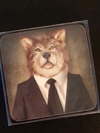 Set van 6 onderzetters Wolf