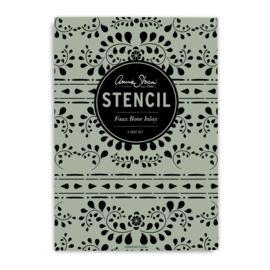 Annie Sloan stencil Faux Bone Inlay 3 x A3