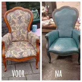 Tips voor het verven van een stoffen stoel met Chalkpaint van Annie Sloan