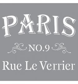 Sjabloon Rue le Verrier