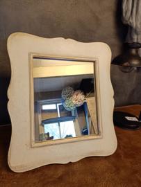 Mooie houten spiegel staand/hangend