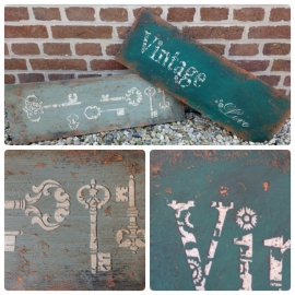 Dinsdag 10 maart Workshop Roestige borden/Vintage signs