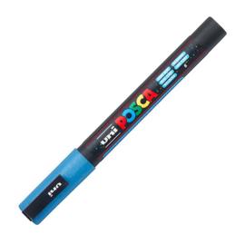 uni posca 3m glitter blue