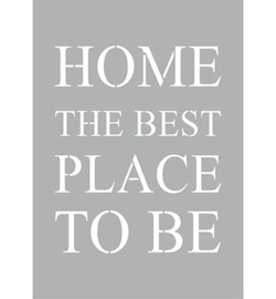 Home the best place to be Sjabloon A4