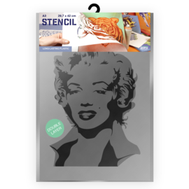 QBIX Double layer Marylin Monroe Sjabloon A3
