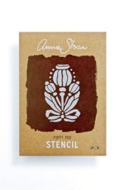 Stencil Poppy Pod Annie Sloan Sjabloon A4