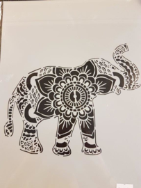 Olifant Sjabloon A4