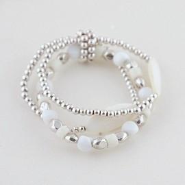 Lief armbandje zilver wit