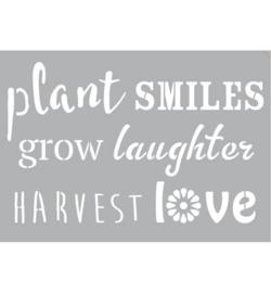 Plant Smiles Zelfklevend Sjabloon A3 formaat