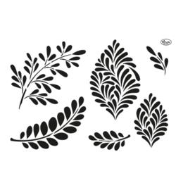 Modern leaves  sjabloon A4