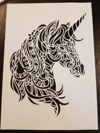 unicorn Eenhoorn Sjabloon A4