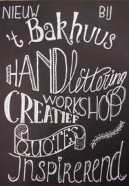 Workshops Handlettering voor eigen groepen, op aanvraag