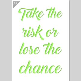 QBIX Sjabloon tekst  Take the risk... A3