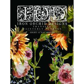 IOD Transfer Painterly Florals ~~ Maar liefst 8 vellen van 30.5 x 40.65 cm!!