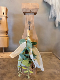 Houten kandelaar / ornament