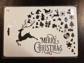 Merry Christmas Rendier kadootjes Sjabloon