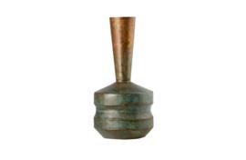Chimney metalen vaas Antique copper 47 cm