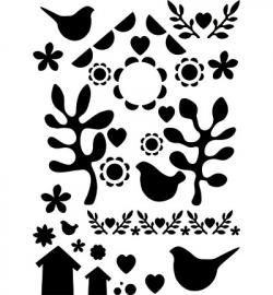 Sjabloon Vogelhuis A3