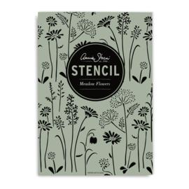 Annie Sloan stencil Meadow Flowers A3