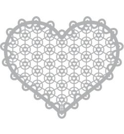 Lace heart Mask stencil 30 x 30 cm