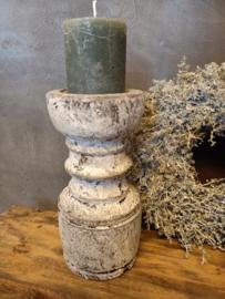 Super gave betonnen kandelaar inclusief kaars