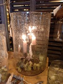 Bubbleglas windlicht / vaas L