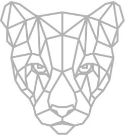 Mask stencil Panter graphic