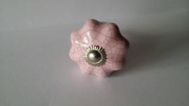 roze kast- of deurknopje craquelee