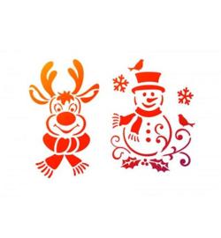 Sneeuwpop en rendier