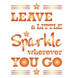 Sjabloon Leave al little sparkle...