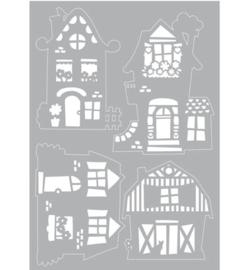Fun houses Mask stencils