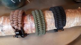 Heren armband storm-armband zand/bruin 23 cm
