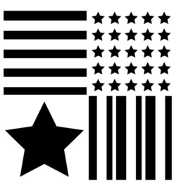 Uiverseel sjabloon Stars & Stripes