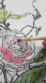 Di 3 september keuze workshop; Tuinplank of Iron Orchid Designs schilderij