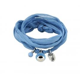 Rakhi 100% zijden armband Dusk Blue