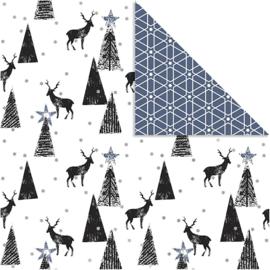 Scrapbooking papier/ inpakpapier kerst