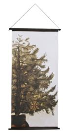December kerstposter Velvet  144x74 cm!! Be Pure