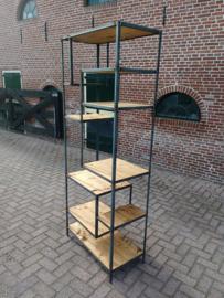 """Industriële asymmetrische open kast """"Mulder""""  VERZENDEN BINNEN NEDERLAND VOOR SLECHTS € 5,95"""