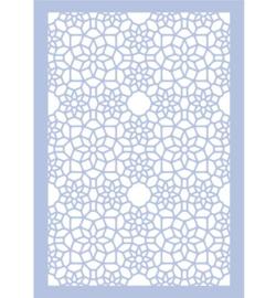 Stencil A4 tille pattern flowers