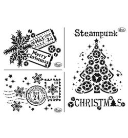 Kerstsjabloon Steampunk Christmas